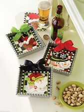 Mud Pie Christmas Napkin Holder With Weight ,Snowman, Reindeer, Santa 122362