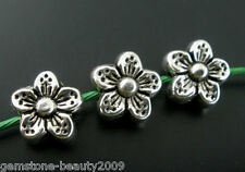 Wholesale HX Silver Tone Flower Spacer Beads 9mm
