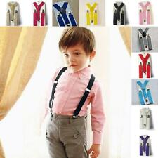 Children Kids Boys Girl Toddler Clip-on Suspenders Elastic Adjustable Braces E30