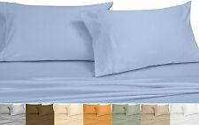 6PC Twin Size Bed in a Bag, Wrinkle Free 650 TC Solid Cotton-Blend Bedding Set