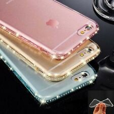 Bling Crystal Diamond Transparent Clear Soft TPU Silicone Case Cover For Phone