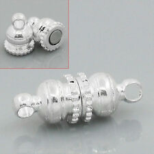 Wholesale Mixed Lots Silver Plated Magnetic Clasps 16x6mm