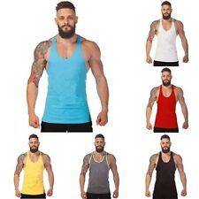 New Mens Pure Color Sports Bodybuilding Vest Gym Tank Tops Sleeveless T-shirt