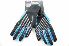 Nike Lightweight Tech Run Men's Black/Blue Dri-Fit Running Athletic Gloves