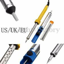 60W Electric Soldering Iron Kit Adjustable Temperature + Suction Tin + Wire