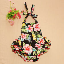 2016 Bauhinia Flower Printed Baby Rompers Toddler Girl Summer Romper Kid Clothes