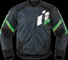 Mens Icon Green Overlord Textile Motorcycle Riding Jacket Harley Davidson