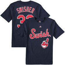 Nick Swisher Cleveland Indians Youth Who's On Deck Player T-Shirt - Navy - MLB