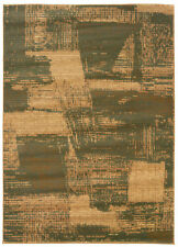 LR Resources Opulence Olive/Dark Yellow Abstract Brushstroke Area Rug