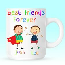 Best Friends Boys Personalised Mug Cup Christmas Birthday Novelty Gift Present