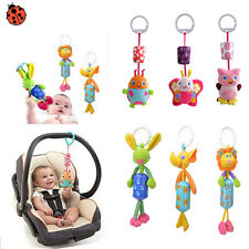 Babys Infant Rattles Plush Animal Stroller Music Hanging Bell Toy Doll Soft Bed