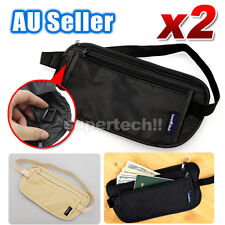 Travel Passport Waist Pouch Security Bag Money Belt Secure Ticket & Card Wallet