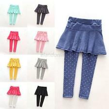 1-7Y Baby Girl Soft Leggings Culotte  Spring/Fall Toddler Pantskirt Trousers E32