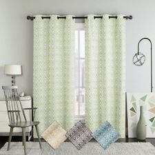 Set of Two Blackout Window Curtains, Justin Printed 2PC Grommet Window Panels