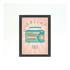 Americanflat Vintage Radio by Jilly Jack Designs Framed Graphic Art