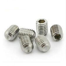 A2 Stainless Steel M5(5mm)*3mm-25mm Set Screws Hex Socket Grub Screws Metric