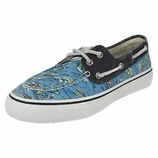 Mens Sperry Blue Canvas Deck Shoes Style BAHAMA 2-EYE HAWAII
