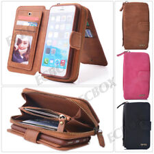 Genuine Leather Case Cover Zipper Wallet Card Multifunction For iPhone 6 6S Plus