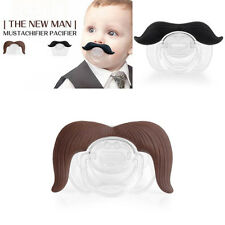 Mustachifier Baby Infant Pacifier Cowboy The Gentleman Binkie Mustache Beard