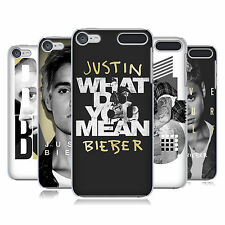OFFICIAL JUSTIN BIEBER BLACK AND WHITE HARD BACK CASE FOR APPLE iPOD TOUCH MP3