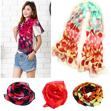 New Fashion Dot Girls Women Long Soft Wrap Lady Shawl Silk Chiffon Scarf Warms