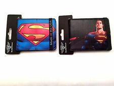 Superman Logo Wallets Authentic Extra Slim Licenced Bifold Buckle Down