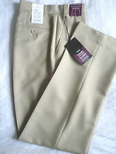 MENS M&S 32 W 33 L CREASE RESISTANT ACTIVE WAIST TRAVEL TROUSERS FREE POST