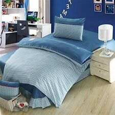 Bedding Set Queen Quilt Doona Duvet Cover Kids Bed Sheet Pillowcase  -Teal  Styl