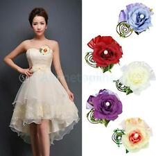 Rose Flower Boutonniere Corsage Groom Prom Quinceanera Party Wedding Bridal