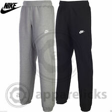 Nike Mens AW77 Cuffed Fleece Lined Joggers Track Sweat Pants Black Grey