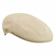 Kangol Tropic 504 Ventair Men's Poly Blend Ivy Cap Ergonomic Fit Beige Authentic