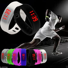 Sport Mens Women Watch Silicone Digital LED Bracelet Waterproof Watch GIFT Reloj