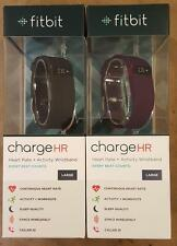 Fitbit Charge HR Wireless Heart Rate & Activity Wristband Black/Plum Large/Small