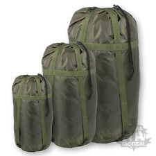 MILITARY STYLE DELUXE SLEEPING BAG COMPRESSION SACK BRITISH ARMY OLIVE GREEN