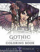 Gothic Fantasy Fairies Dragons Art Adult Colouring Book Witches Magical Angels