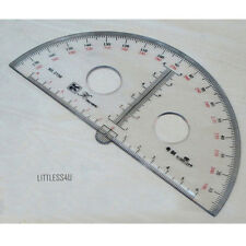 180 Degree Acrylic Clear Protractor Ruler Round School Math Office 15cm-30cm New