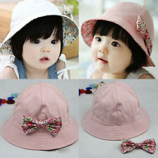 1-4 Years Cute Toddlers Baby Girls Large Brim Sun Hat Cap Summer Cotton Hats MAD