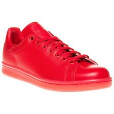 New Mens adidas Red Stan Smith Adicolour Leather Trainers Court Lace Up