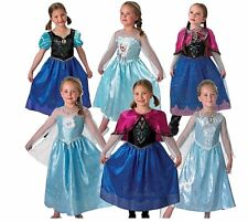 Girls LICENSED Disney FROZEN Anna Elsa Classic Deluxe Musical Light Fancy S M L