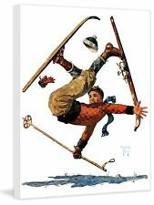 Marmont Hill Wipeout on Skis by Eugene Iverd Painting Print on Wrapped Canvas