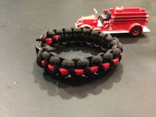 Thin Red Line  Paracord Bracelet Band for Fitbit Flex or One