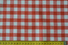Oilcloth Red Gingham Check Fabric Material PVC Fat Quarter By The Metre