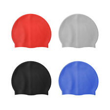 Flexible Sporty Durable Latex Swimming Cap Bathing Tight Waterproof Hat