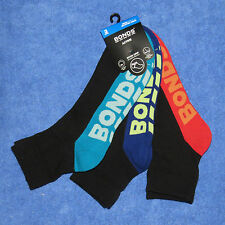 3 Pack of Mens BONDS Quarter Crew Socks Size 6-10 or 11-14 BNWTs