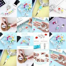 Fashion style Rubber Fish Bone Earphone Cord Cable Winder Management On Sale