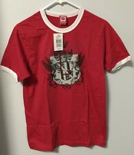 Burton Snowboard Men's Tee Shirt T-Shirt Red Honor Ringer L, M, S - New w/ Tags