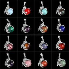 Silver Plated Dragon Claw Wrap Ball Beads Charm Gemstone Pendant For Necklaces