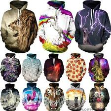 Unisex Hoodie Jacket Coat 3D Graphic Print Pocket Jumper Tops Hooded Sweatshirt