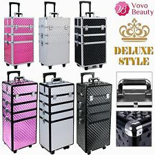 Professional Makeup Vanity Case Nail Hairdressing Cosmetic Beauty Box Trolley UK