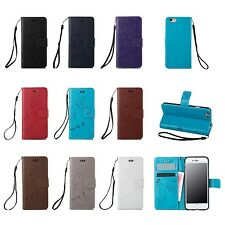 Flip Leather Wallet Cards Slot Stand Case Cover For Apple iPhone 5 SE 6 6S Plus